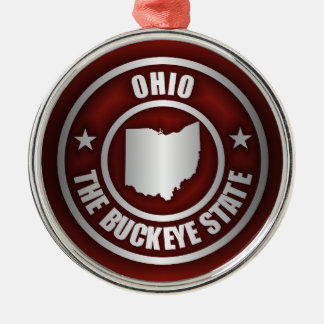 Ohio Steel (Red) Silver-Colored Round Decoration