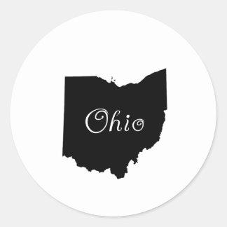 Ohio Round Stickers