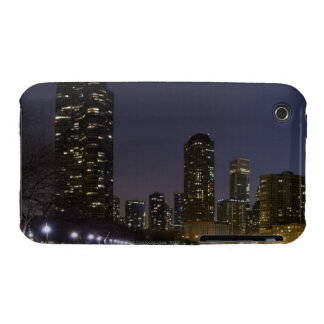 Ohio Street Beach in downtown Chicago at night, iPhone 3 Cases