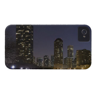 Ohio Street Beach in downtown Chicago at night, iPhone 4 Case