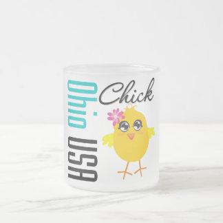 Ohio USA Chick Frosted Glass Mug