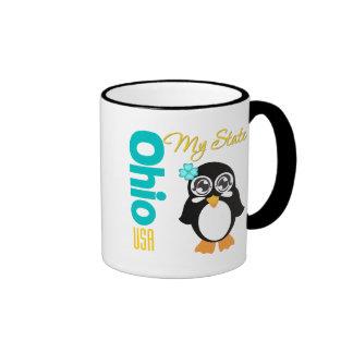 Ohio USA Penguin Ringer Mug