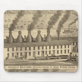 Ohio Valley Pottery, Laughlin Brothers Mouse Pad