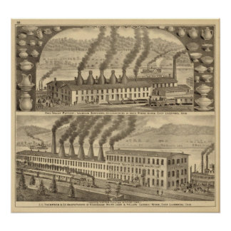 Ohio Valley Pottery, Laughlin Brothers Print
