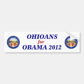 Ohioans for Obama 2012 sticker Bumper Sticker