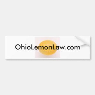 OhioLemonLaw com Bumper Sticker