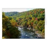 Ohiopyle River in Fall II Pennsylvania Autumn Greeting Card