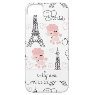 Ohlala Cute Paris Poodle and Eiffel Tower Pattern Case For The iPhone 5