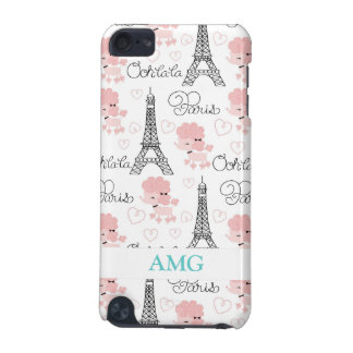 Ohlala Cute Paris Poodle and Eiffel Tower Pern iPod Touch 5G Cover