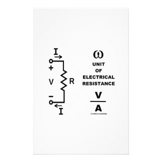 Ohm A Unit Of Electrical Resistance (Physics) Personalised Stationery