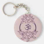 Ohm Flower Circle Key Chains