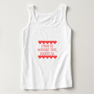 Ohm is Where the Hertz Is Basic Tank Top