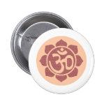 ohm lotus symbol button