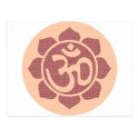 ohm lotus symbol post cards