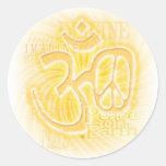 Ohm Peace Round Sticker