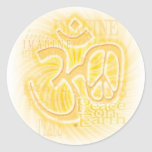 Ohm Peace Round Stickers