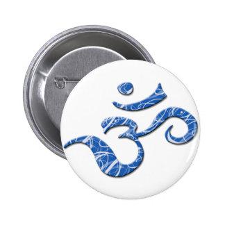 Ohm Symbol Button in Blue