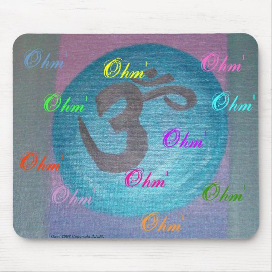 Ohm' yoga power mouse mat
