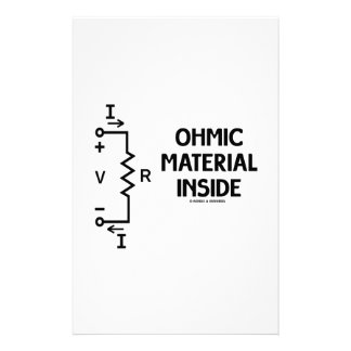 Ohmic Material Inside (Ohm's Law) Custom Stationery