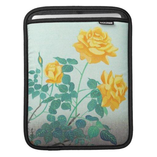 Ohno Bakufu Yellow Rose flowers fine art japanese iPad Sleeves