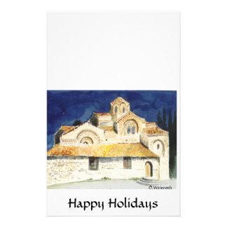 ohrid churches1, Happy Holidays, O.Weinroth Stationery