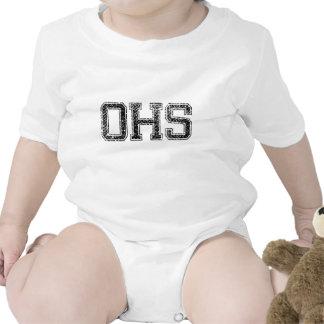 OHS High School - Vintage, Distressed Baby Bodysuits