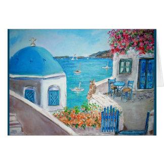 Oia, Santorini Greeting Card