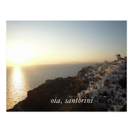 oia, santorini postcard