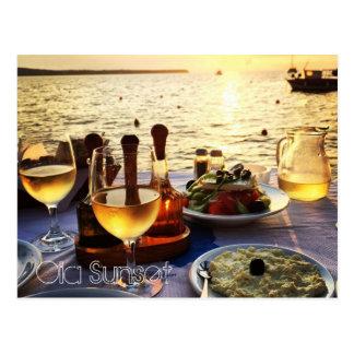 Oia Sunset Postcard