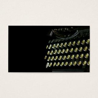 OId typewriter keyboard business card