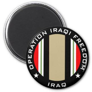 OIF Iraq 6 Cm Round Magnet