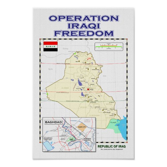OIF - Iraq map poster