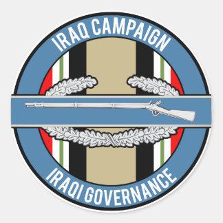 OIF Iraqi Governance CIB Round Sticker