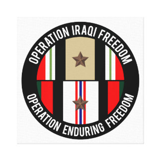 OIF - OEF 1 star Stretched Canvas Print