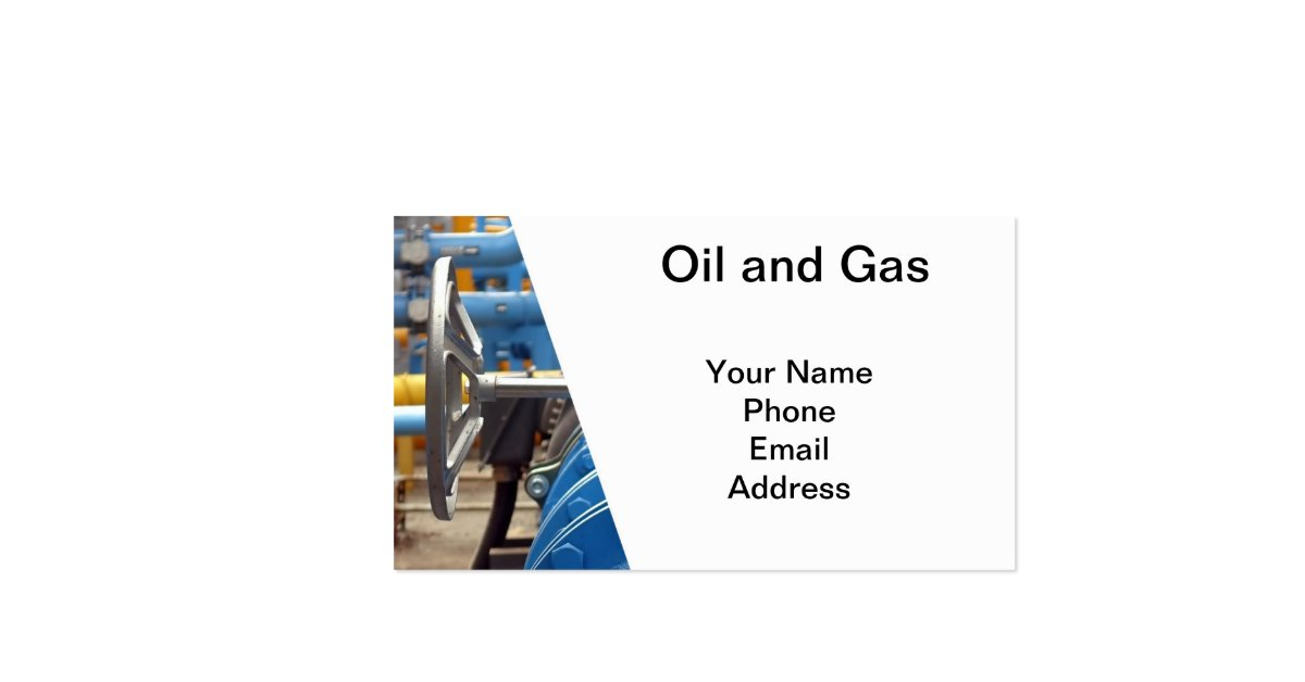 Oil and Gas Double Sided Standard Business Cards Pack
