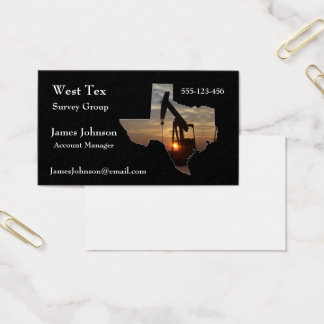 Oil And Gas Industry Business Cards Texas Shape 2