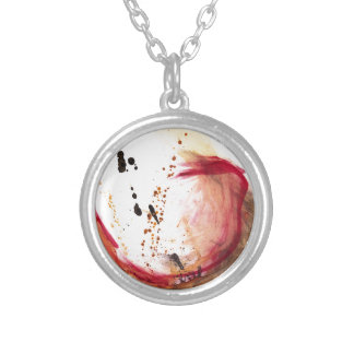 Oil and Water #42 Round Pendant Necklace