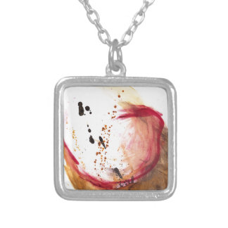 Oil and Water #42 Square Pendant Necklace