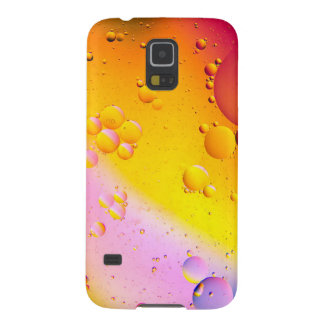 Oil and Water on a Coloured background Case For Galaxy S5