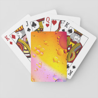 Oil and Water on a Coloured background Playing Cards