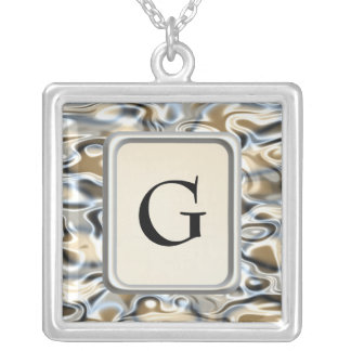 Oil And Water Square Pendant Necklace