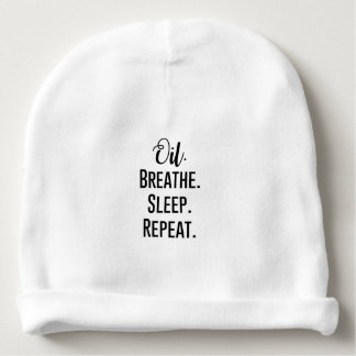 oil breathe sleep repeat - Essential Oil Product Baby Beanie