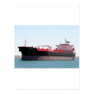 Oil/chemical tanker ship 2 postcard