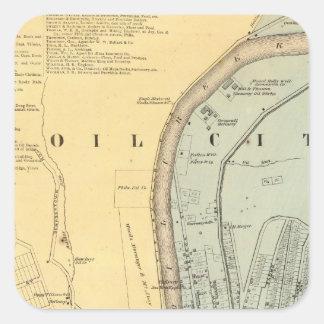 Oil Creek 1 Square Sticker