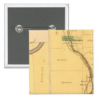 Oil Creek Pennsylvania Atlas Map 15 Cm Square Badge