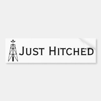 Oil Derrick Wedding | Just Hitched Bumper Sticker