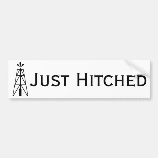 Oil Derrick Wedding | Just Hitched Bumper Sticker