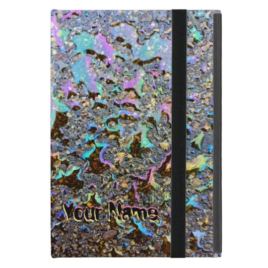 Oil Drops Iridescent Effect with Your Name Case