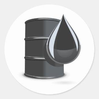 Oil Drum Round Sticker