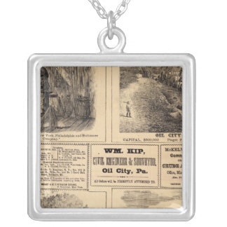 Oil farms silver plated necklace